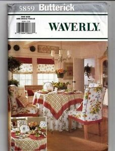Butterick Waverly 5859 Home Decor Pattern Tea Time Accessories