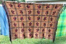 "Moose Mountain Co. Canadian 100% Wool Maple Leaf Blanket Throw 43"" X 68"""