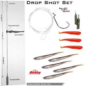 Iron Claw Drop Shot Set Farbe: Baby Bass + Berkley Powerbait Minnow 10cm