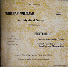 VAUGHAN WILLIAMS: Five Mystical Songs/BUXTEHUDE: Cantata/Prelude-NM1952LP MONO