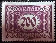 Austria stamp - Digit in Decagon   200 Kronen   1922