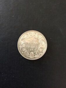 British India Victoria One Rupee 1884