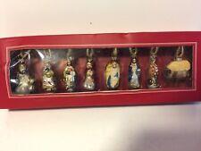 Pottery Barn Mini Nativity Ornaments. - MIB