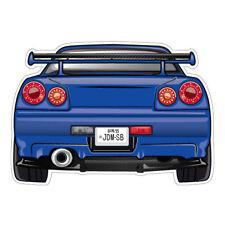 SKYLINE R34 GTR BLUE JDM Sticker Decal Drift Jap Car  #1547K