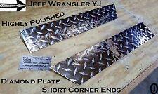 "Jeep Wrangler YJ 3 1/2"" tall Diamond Plate 2 pcs Short Corner Guard Ends 1987-95"