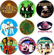 Primus - Lot of 9 badges (pins, buttons, spille, Faith No More, Mr Bungle)