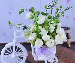 Imitation,Decor,Rattan,Flower,Basket,Vase,Tricycle,Bicycle,Model,Home,Garden,DIY
