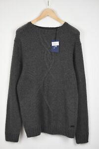 GANT Men MEDIUM Striped Linen Grey Mélange Short Sleeved T-Shirt 18935*