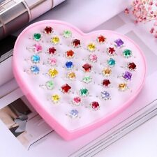 36pcs Children Toys Rings Cute Jewelry Dress Up Decor Toys for Girls Little Kids