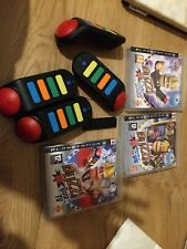 Sony PS3 - Huge Buzz Quiz  Bundle With 4 Wireless Buzzers And All 3 Games