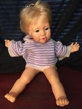 Vintage Real Baby Doll Blond Blue Eyes J Turner Hasbro 1986