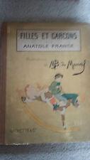 Filles et Garcons par Anatolle France - Illustrations de M B de Monvel
