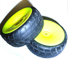 02117 1/10 On Road RC Wheels and Tyres x 2 Yellow Disc