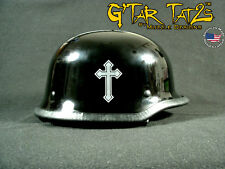 Heavy Metal Cross Helmet decals (1 Pair)