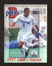 Duquesne Dukes--1997 Soccer Pocket Schedule--SporTrak