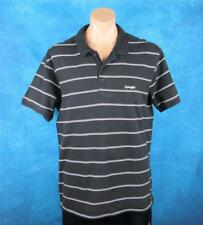 Piping Hot, XXL Mens Black & White Striped Polo Shirt.