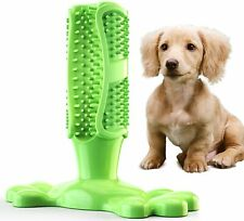 New listing Dog Toothbrush Chew Bite Toy Dental Oral Care Brush Stick Natural Rubber Pet Us