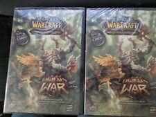 Lot of 2 Sealed World of Warcraft TCG Deluxe Starter Decks-- Drums of War