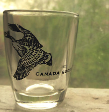 Canada Goose Shot Glass Tiny Black 2.5 Inches Tall Vintage