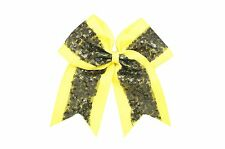 9 Inch Mix Colors Sequin Cheer Hair Bow with Clip Cheerleading CB011
