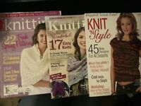 Lot Of 3 Knit Magazines- Shawls, Sweaters, Scarves, Accessories, Hats, Kids