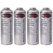 4 x GoSystem 2277 70:30 Propano Butano Mix Gas Cartuccia EN417 Filettato 277g