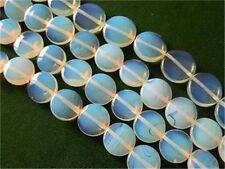 14mm Sri Lanka Moonstone Gem Coin Loose Bead 15''