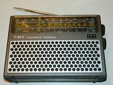 VINTAGE ancien POSTE alt RADIO Lorenz ITT 4 Band 109B einsprachig LW MW FM SW