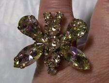 Swarovski butterfly Anthropologie Statement Ring Adj Boho Chic prop prom   5858