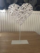 Wicker Heart Decoration, Ornament, Home Decor