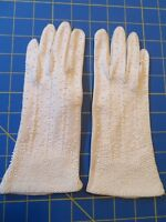 Beaded Ladies White Gloves