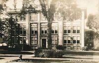 WARSAW NY - High School Real Photo Postcard rppc