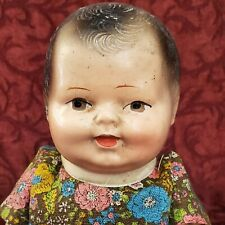 Vintage Composition Jointed Baby Doll 10 inches Molded & Painted Features