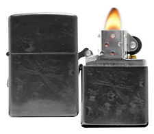 Zippo 28685 Iced Skulls Gray Dusk Finish Windproof Pocket Lighter NEW