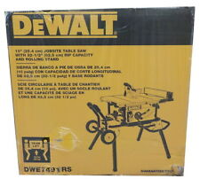 "DeWalt DWE7491RS 10"" Jobsite Table Saw With Rolling Stand - New"