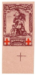 (I.B) Belgium Great War Cinderella : Red Cross Fund 20c (die proof)
