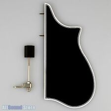 F-Model Bound Mandolin Pickguard & Bracket for F5 Style BLACK w/ 3-Ply Binding