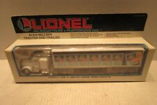 Lionel Train Accessory 6-12811 Alka Seltzer Tractor and Trailer 0 and 027 Gauge