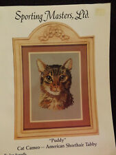 Puddy-Cat Cameo-American Shorthair Tabby Cross Stitch Leaflet-Sporting Masters