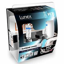 Lunex H7 Halogen Supreme Vision + 100% more light Headlight Car Bulbs 3700K Twin
