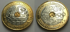 Paire de 20 Francs 1993 & 1994 - Jeux Mediterannéens & Coubertin - de rouleaux