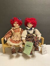 Seymour Mann Our American Sweethearts Raggedy Ann & Andy Jointed Dolls