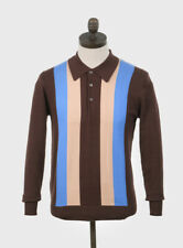 Art Gallery Clothing - Knitted Polo - CHOCOLATE XS Mod Sixties