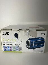 JVC Blue Everio G series GZ-MG330 HD 35x Optical Zoom Hard Disk Camcorder