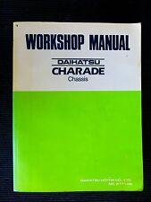 "DAIHATSU "" CHARADE "" > CHASSIS <, 1987  genuine  WORKSHOP  MANUAL  rare"