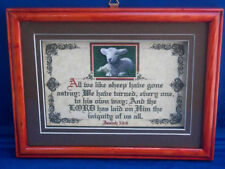 """New! Bible Verse Plaques/Signs ~ """"WE LIKE SHEEP"""" ~ Christian,Framed Gifts $40.00"""