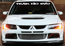 FEAR NO EVO Mitsubishi Windshield  Decal Sticker jdm Lancer import sti evolution
