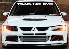 FEAR NO EVO Mitsubishi Windshield  Decal Sticker jdm Lancer import sti evolution