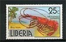 TIMBRE NEUF XX CREVETTE - LIBERIA
