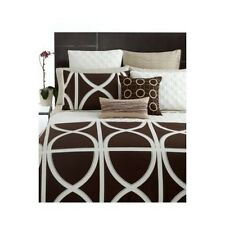 Hotel Collection 3 pc Twin Transom Comforter & Shams Espresso Brown $395 New